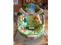 Fisher Price Rainforest Baby Bouncer Chair vgc