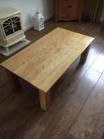 PRICE REDUCTION Solid Oak Contemporary Coffee Table