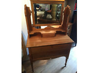 Pine Dressing Table (needs handles ). Lovely detail.