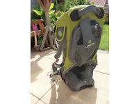 baby carrier backpack, really light and easy to put on. Some marks on chin rest but good condition.