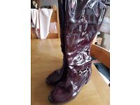 Ladies boots extra wide fit size 7