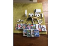 Wii console, controls and games