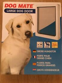 New dog mate 2 way locking large white dog door flap