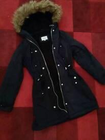 Navy Parka Coat