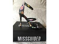 Missguided Floral Stiletto Shoes