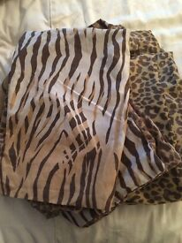 King size leopard quilt sets x two