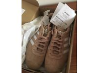 Women's pink addidas gazelle trainers size 5.5 new with receipt