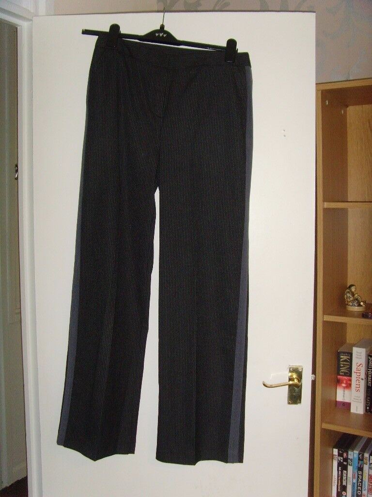Grey Pinstripe Ladies trousers from Very - new with tags - size 12
