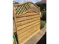 Fence panel (omega lattice top)