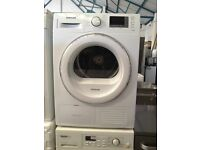 Samsung DV80F5E5HGW Heat Pump Condenser Tumble Dryer