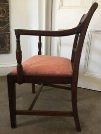 Antique Regency Mahogany Chair, circa 1820 - for bedroom, study, sitting room, hallway, etc