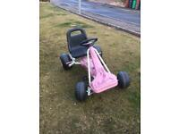 Pink pedal go cart
