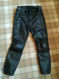 Ladies motorbike leather trousers size 16