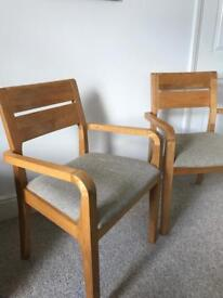 Pair of lovely wooden armed chairs