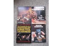 4 DIY reference books - Router Handbook, Router Jigs, Stationary Power Tools & Workshop Shortcuts