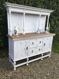 Stunning Shabby Chic Painted Vintage Dresser Sideboard Cabinet Drawers F&B