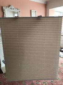 Natural pleated blinds