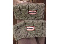 Hunter Wellies thick grey socks