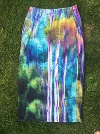 TOPSHOP colourful pencil skirt