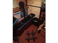 Bench and Weight Set