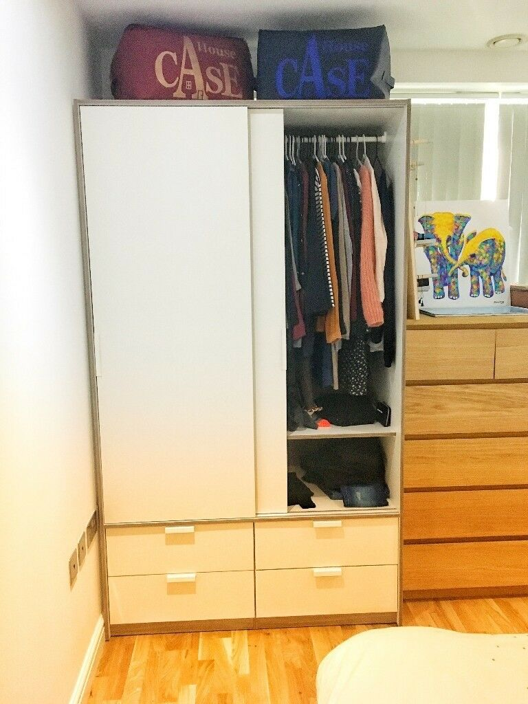 IKEA TRYSIL Wardrobe with sliding doors / 4 drawers