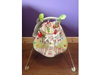Baby bouncer Fisher Price Woodsy Friends Comfy Time bouncer. Excellent condition. Box & instructions