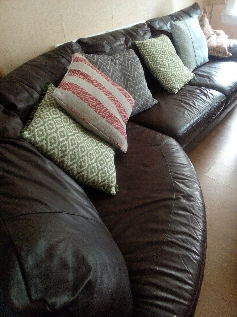 Large Curved Sofa