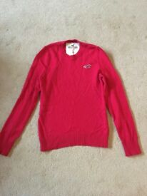 Mens Red Hollister Jumper - Size Medium