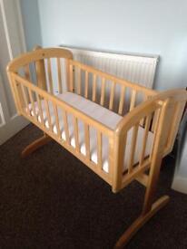 John Lewis rocking crib / baby cot