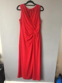 Ellen Tracy Red Gown/Bridesmaid Dress Size 16