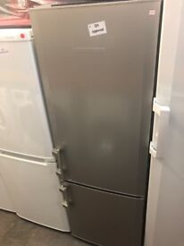 SILVER LIEBHERR FRIDGE FREEZER