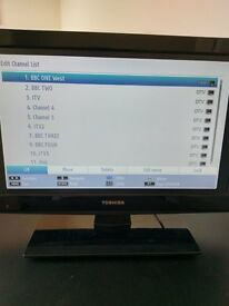 "Toshiba 19"" LCD TV – good condition"