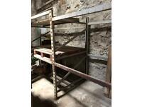 Industrial solid metal racking storage garage workshop
