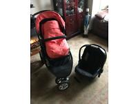 Mothercare Xpedior 4 wheel and Car Seat