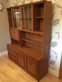ILLUMINATED WOODEN DISPLAY CABINET/WALL UNIT
