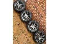 "5x110 18"" Team Dynamics Imola Alloys wheels Vauxhall Astra Vectra Zafira VXR GSI Saab 93"