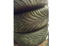 18 inch vw golf mk5 gti replica alloys with tyres