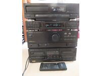 Kenwood Stacking Stereo System. CD, Radio, Tapes. Remote Control included