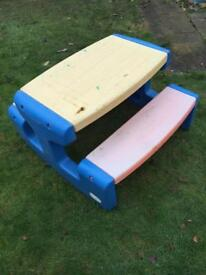 Little tikes picnic play table bench