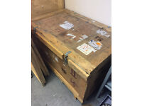 Wooden crate with latches