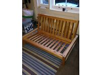 2 seater double sofa bed (futon company)