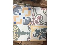 Moroccan style patchwork leftover tiles