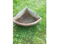Cast iron corner trough/planter