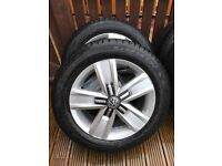 Vw t6 Davenport alloys with good year all weather tyres.