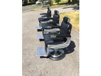 3 Belmont Apollo barbers chairs ex demo