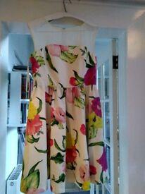 TED BAKER FLOWERS AT HIGH TEA WOMEN'S DRESS CREAM £45