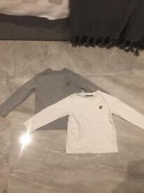 Lyle & Scott boys long sleeved tops 5-6 years