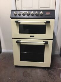 Cannon dual fuel gas cooker 60cm cream double oven 3 months warranty free local delivery!!!!!!