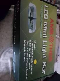 Led mini magnetic beacon light bar