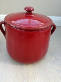 Red Terracotta 4ltr Italian Stockpot. Used.